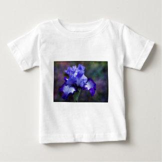 紫色および青の高い髭があるアイリス花 ベビーTシャツ