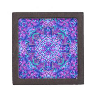 紫色および青パターン記念品箱、2つのサイズ ギフトボックス
