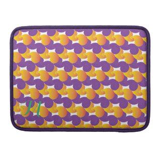 紫色および黄色パターン MacBook PROスリーブ