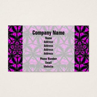 紫色および黒いヒッピーパターン 名刺