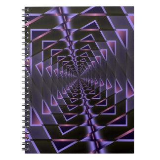 紫色および黒いフラクタル ノートブック