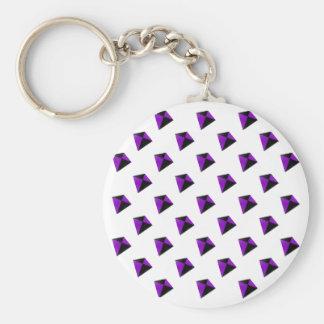 紫色および黒い菱形凧 キーホルダー