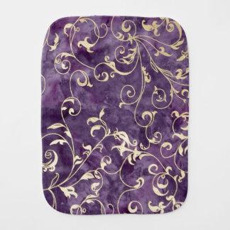 紫色およびIrvoryスクロール バープクロス