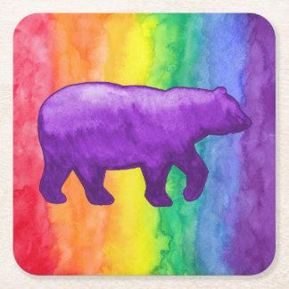 紫色かバイオレットは虹の洗浄紙のコースターに関係します スクエアペーパーコースター