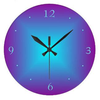 紫色か水によって照らされる印刷されたデザインの柱時計 ラージ壁時計
