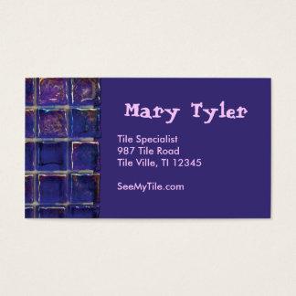 紫色か青のタイルの名刺 名刺