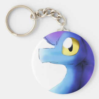 紫色か青の水彩画のドラゴン1 キーホルダー