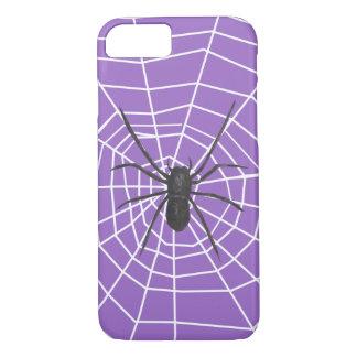 紫色か黒いくもハロウィン iPhone 8/7ケース