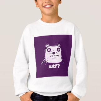 紫色くまのwtf スウェットシャツ