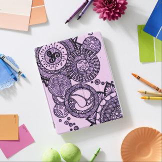 紫色でかわいらしい iPadスマートカバー