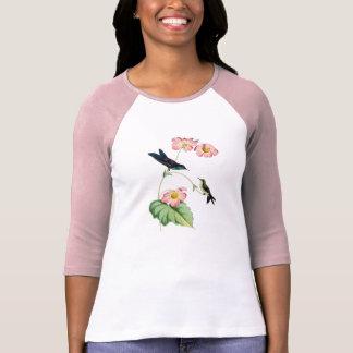 紫色によって支持されるThornbillのハチドリの女性Tシャツ Tシャツ