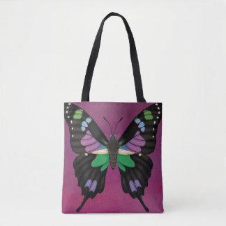 紫色によって斑点を付けられるアゲハチョウ トートバッグ