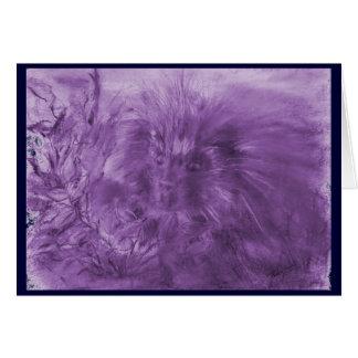 紫色によって染められるヤマアラシ カード