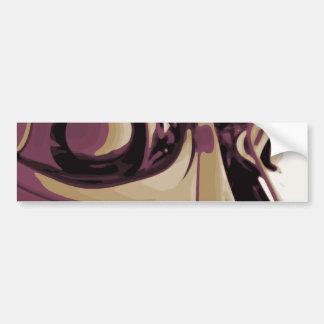 紫色によって注目されるロボット バンパーステッカー