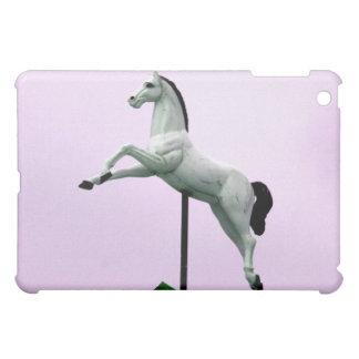 紫色に対する白馬の回転木馬の彫像 iPad MINI CASE
