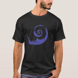 紫色のかたつむりのTシャツ Tシャツ