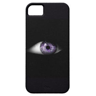 紫色のかわいくクールな眼球のデザインの目 iPhone 5 ベアリーゼアケース