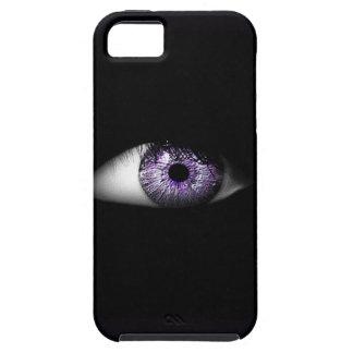 紫色のかわいくクールな眼球のデザインの目 iPhone SE/5/5s ケース