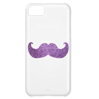 紫色のきらきら光るな髭(模造のなグリッターのグラフィック) iPhone5Cケース