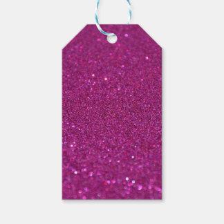紫色のきらびやかなギフトのラベル ギフトタグ