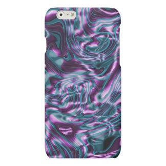 紫色のきらめくの溶解した液体パターン マットiPhone 6ケース