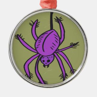 紫色のくも メタルオーナメント