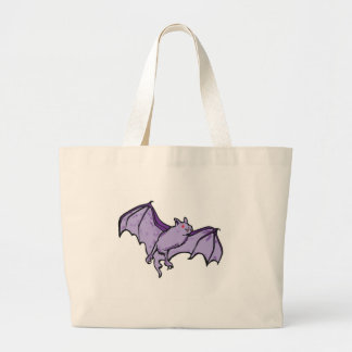 紫色のこうもり ラージトートバッグ