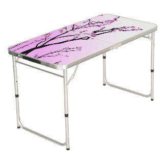 紫色のさくらんぼの花の桜 ビアポンテーブル