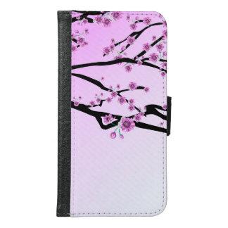 紫色のさくらんぼの花の桜 GALAXY S6 ウォレットケース