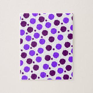 紫色のしぶきの点 ジグソーパズル