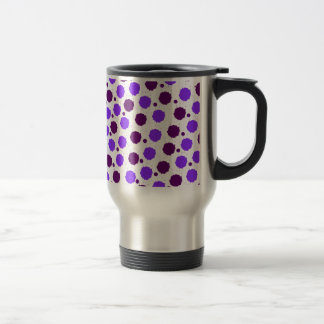 紫色のしぶきの点 トラベルマグ