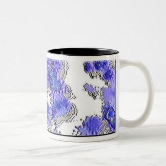 紫色のしぶき ツートーンマグカップ