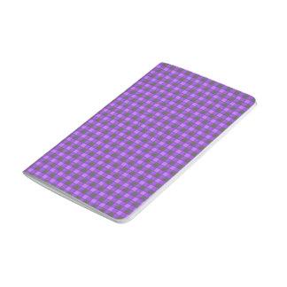 紫色のすみれ色および黒い格子縞の点検ジャーナル ポケットジャーナル