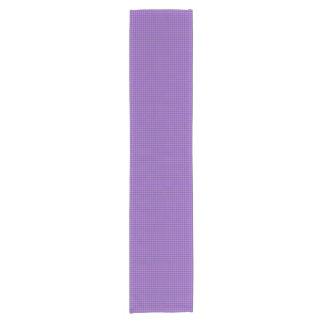 紫色のすみれ色の黒い小型格子縞の点検のテーブルのランナー ショートテーブルランナー