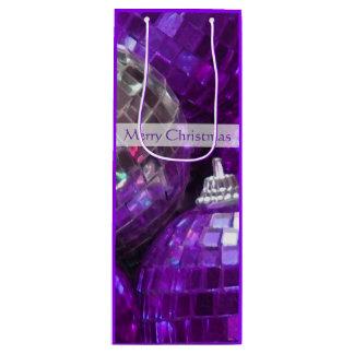 紫色のつまらないもののメリークリスマスのギフトバッグのワイン ワインギフトバッグ