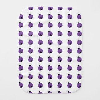 紫色のてんとう虫のベビー用バーブクロス バープクロス