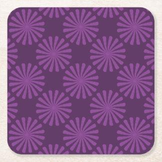 紫色のにんじん スクエアペーパーコースター