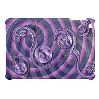 紫色のねじれ iPad MINIケース