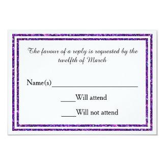 紫色ののどはトリム- RSVPカードぴかぴか光りました カード