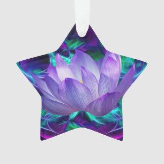 紫色のはすの花および意味 オーナメント