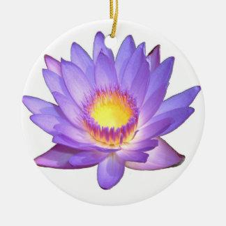 紫色のはすの花のオーナメント セラミックオーナメント