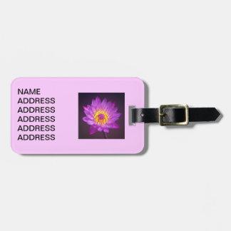 紫色のはすの花 ラゲッジタグ