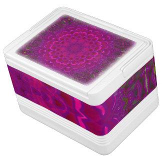 紫色のはす万華鏡のように千変万化するパターンのイグルー12のクーラーボックス IGLOO クーラーボックス