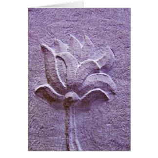 紫色のはす彫刻カード カード