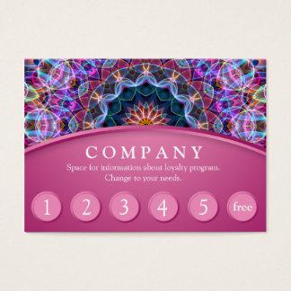 紫色のはす曼荼羅の顧客のロイヤリティカード-ピンク チャビ―名刺