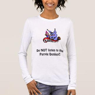 紫色のろばに聞かないで下さい!! 長袖Tシャツ