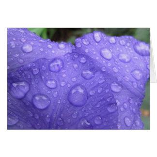 紫色のアイリスの低下 ノートカード