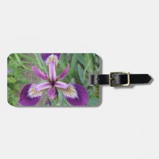 紫色のアイリスカスタムな荷物のラベル ラゲッジタグ