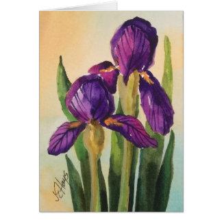 紫色のアイリスカード ノートカード