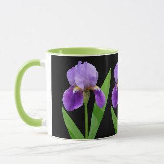 紫色のアイリスマグ マグカップ